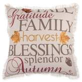 Harvest Words Square Throw Pillow