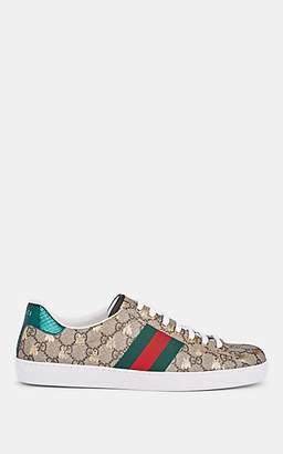 Gucci Men's New Ace Canvas Sneakers - Beige, Tan