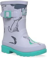 Joules Boys Grey Wolves Wellingtons