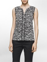 Calvin Klein Splatter Stripe V-Neck Blouse