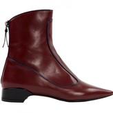 Fabrizio Viti Burgundy Leather Ankle boots