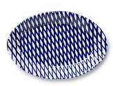 """Vietri Net & Stripe Oval Net Platter - Blue 12.5"""""""