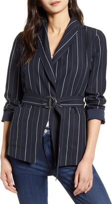 Chelsea28 Multistripe Tie Waist Jacket
