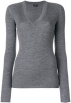 Joseph V-neck ribbed jumper