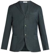 Boglioli Single-breasted herringbone wool blazer