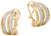 John Hardy 18K Yellow Gold Classic Chain Buddha Belly Earrings with Diamonds
