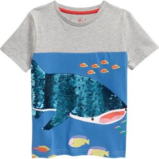 Boden Kids' Grey Marl Whale Shark Tee