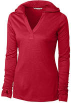Cutter & Buck Cherry Red Chelan Hoodie - Plus Too