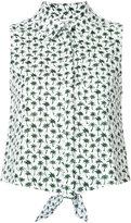 Milly palm print shirt - women - Cotton/Spandex/Elastane - 2
