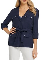 Thumbnail for your product : DKNY Rolled Cuff Belted Soft Jacket