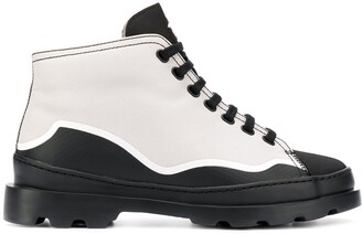 Camper Paneled Lace-Up Boots