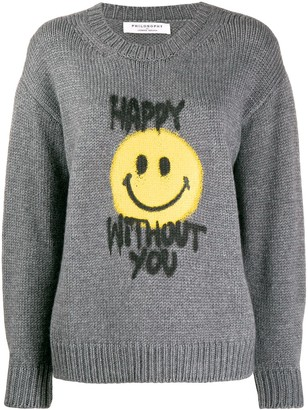 Philosophy di Lorenzo Serafini Slogan Print Sweater