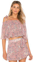 Show Me Your Mumu Nini Tie Top in Pink. - size L (also in M,S,XS)