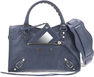 Balenciaga Denim Blue Classic Mini City Bag