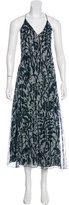 Dries Van Noten Metallic Floral Print Dress