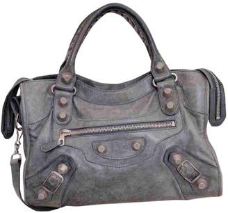 Balenciaga City Grey Leather Handbags