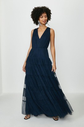 Coast Tulle Tiered Maxi Dress