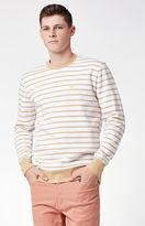 Obey Saginaw Striped Crew Neck Sweatshirt