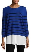 Karl Lagerfeld Striped Contrast Underlay Sweater