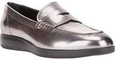 Hogan metallic loafer