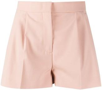 MSGM High-Waist Draped Detailed Shorts