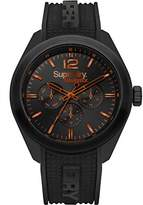 Superdry Men's 'Navigator Posh' Quartz Plastic and Silicone Casual Watch, Color:Black (Model: SYG215BB)