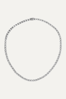 Kenneth Jay Lane Silver-tone Cubic Zirconia Necklace - one size