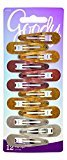 Goody Snap Hair Clips, Assorted Metal, 12-count