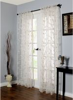 Commonwealth Home Fashions Venice Embroidered Window Curtain Panel in White