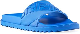 Fendi Men's FF Logo Slide Sandals