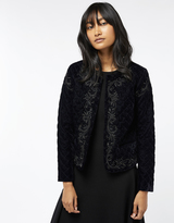 Monsoon Samara Velvet Quilted Jacket