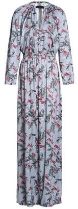 Dagmar House Of Vara Cutout Floral-print Crepe De Chine Maxi Dress