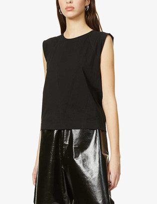 Atm Sleeveless cotton-jersey top