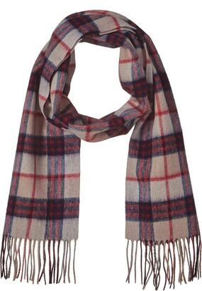 Jeff & Aimy 100% Wool Warm Plaid Blanket Winter Scarf Cashmere Wrap Shawl Pashmina For Women Camel-Navy
