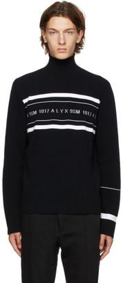 Alyx Black Multi Stripe Logo Turtleneck