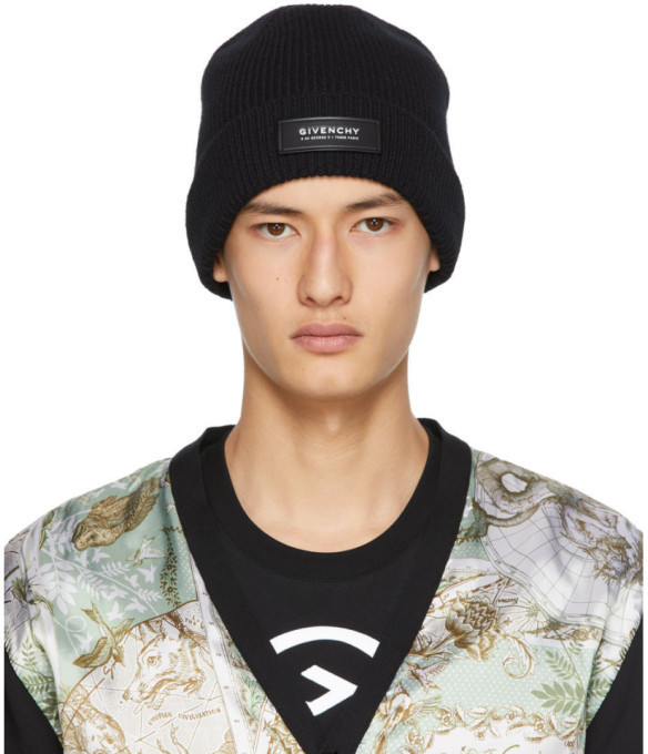 givenchy black patch beanie shopstyle hats shopstyle