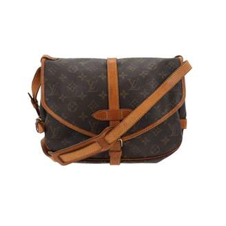 Louis Vuitton Vintage Saumur Brown Leather Handbag