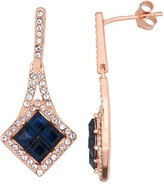 Swarovski Forever Brilliant Sterling N' Ice 14k Rose Gold over Sterling Silver Drop Earrings with Crystals