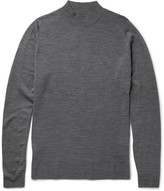 John Smedley Funnel-Neck New Wool Sweater