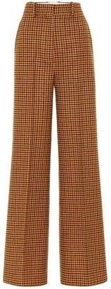 KHAITE Bernadette gingham wool felt pants