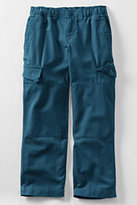 Lands' End Boys Slim Iron Knee® Pull-on Canvas Pants-Blue Menthol Print