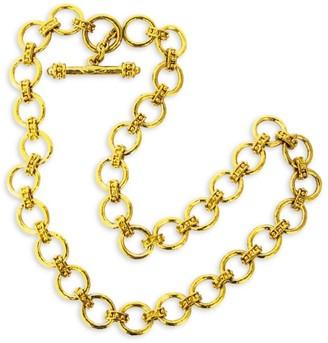 Elizabeth Locke Elba 19K Yellow Gold Small Link Necklace