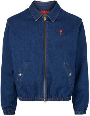 Ami Paris Embroidered Denim Jacket