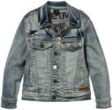 Molo Harald Jacket In Worn Denim