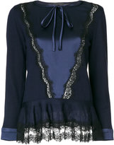 Alberta Ferretti lace trim top