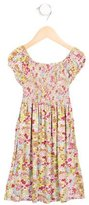 Oscar de la Renta Girls' Ruched Floral Print Dress