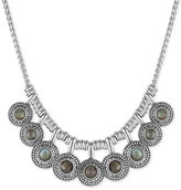 Lucky Brand Multi-Disc Stone Statement Necklace