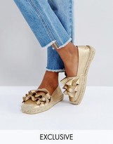 Sixty Seven Sixtyseven Rose Gold Ruffle Espadrille Shoes