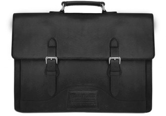 Nappa Dori Norman Laptop Bag Black Leather
