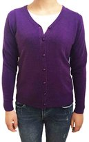 SODIAL(R) Women Knitted Sweater V-neck Long Sleeve Cashmere Cardigan